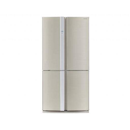 ثلاجة شارب ديجيتال نوفروست سعة 605 لتر ، 4 باب استانلس لون سيلفر مزودة بتكنولوجيا البلازما SJ-FP85V-SL