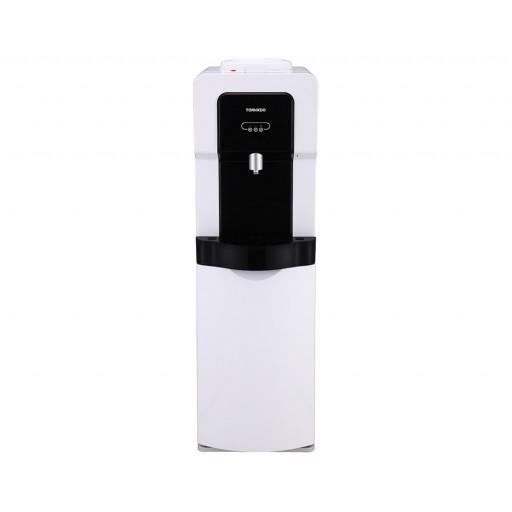 مبرد مياه تورنيدو مزود بكابينة وحنفية واحدة لون أبيض × أسود WDM-H40ABE-WB