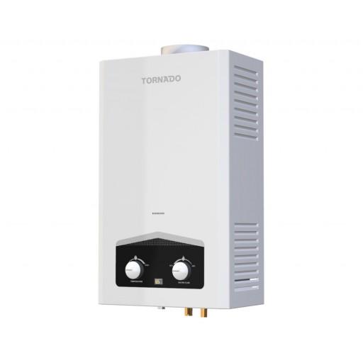 سخان مياه تورنيدو غاز 6 لتر مزود بشاشة ديجيتال و يعمل بالغاز الطبيعي لون أبيض GHM-C06CNE-W