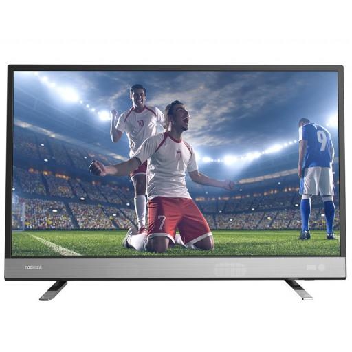 شاشة توشيبا 32 بوصة سمارت إل إي دي HD مزودة بريسيفر داخلى، مدخلين HDMI و مدخلين فلاشة 32L5865EA