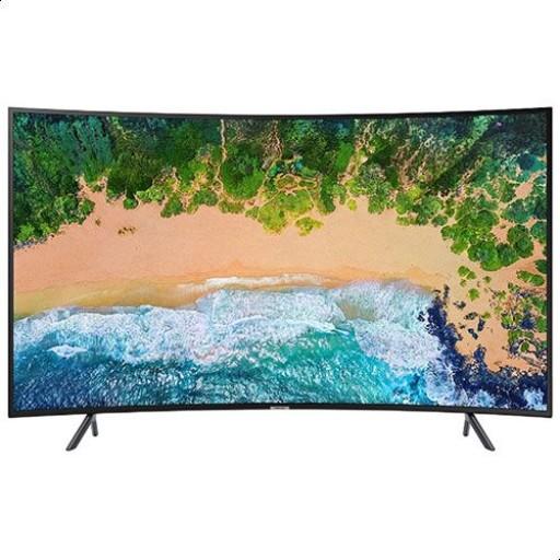 تليفزيون سمارت الترا اتش دي منحني 4K 65 بوصة الفئة السابعة من سامسونج NU7300 مع ريسيفر داخلي