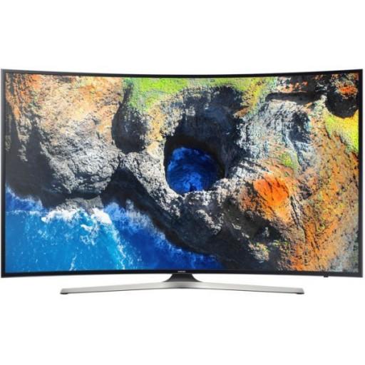 تلفزيون سامسونج الذكي بشاشة منحنية حجم 55 بوصة بتقنية 4 كيه الترا اتش دي - UA55MU7350RXUM