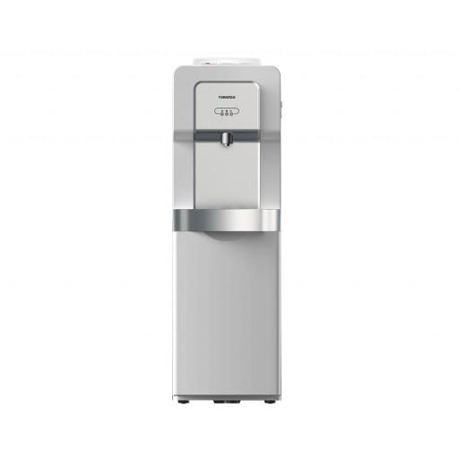 مبرد مياه تورنيدو مزود بحنفية واحدة وكابينة سعة 18 لتر لون سيلفر WDM-H40ABE-S