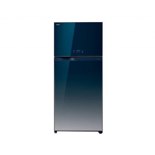 ثلاجة توشيبا انفرتر نوفروست سعة 601 لتر ، 2 باب زجاجى لون أسود GR-WG69UDZ-E(GG)