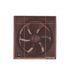 شفاط حمام توشيبا مقاس 20 سم × 20 سم لون بنى أو أوف وايت مزود بشبكة للحماية والخصوصية VRH20S1
