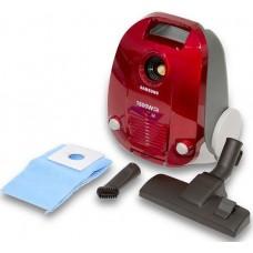 سامسونج مكنسة كهربائية بوعاء 1600 واط - احمر، SC4130