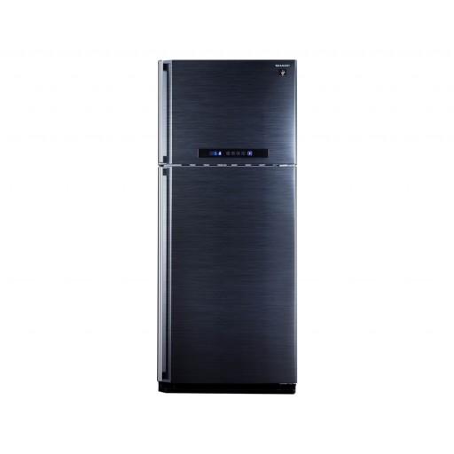 ثلاجة شارب ديجيتال نوفروست سعة 385 لتر ، 2 باب لون أسود مزودة بتكنولوجيا البلازما كلاستر SJ-PC48A(BK)
