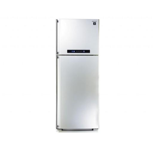 ثلاجة شارب ديجيتال نوفروست سعة 450 لتر ، 2 باب لون أبيض مزودة بتكنولوجيا البلازما كلاستر SJ-PC58A(W)
